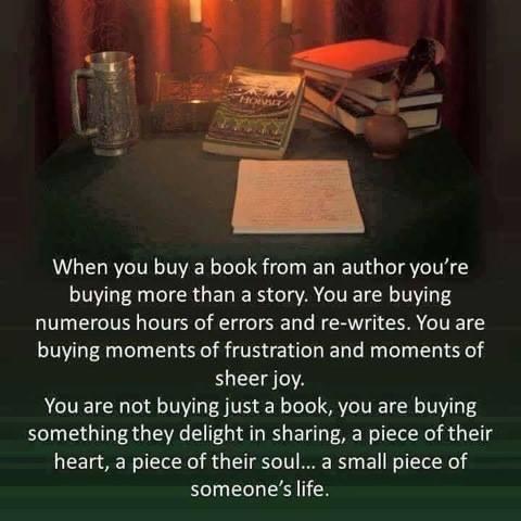 when you buy a book